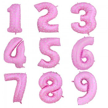 ვარდისფერი ბუშტი ციფრები